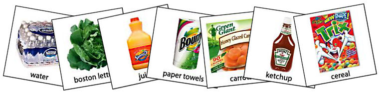 Grocery Pecs Autism Pec Symbols Picture Exchange Communication System